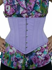 "201 Authentic Lilac Cotton 38"" inch Underbust Waspie Steel Boned Corset"