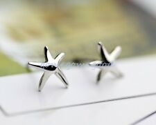 925 Sterling Silver - Chic Korea Starfish Stud Mini Women Club Earrings Jewelry