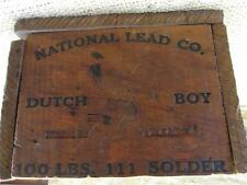 Vintage National Lead Co Dutch Boy Wooden Box   Antique Wood Boxes Soap 8875