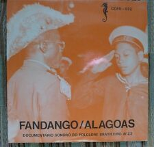 "RARE Mint 7"" Northern Brazil LP Fandango Alagoas Folklore 1977 33RPM Import"