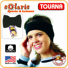 UNIQUE UNIQUE EAR HUGG American Cotton Ear & Head Warmer for Winter Sports Black