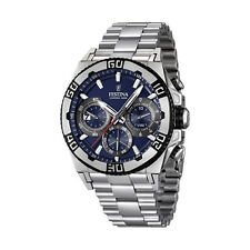 Festina Men's Blue Dial Stainless Steel F16658/2 Quartz Watch
