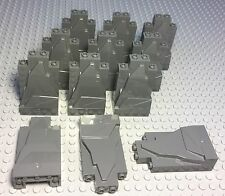 LEGO X12 NEW DARK BLUISH GREY ROCK PANEL WALLS 2X4X6 BULK PARTS LOT PIECES
