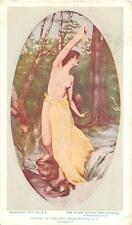 LIBRARY OF CONGRESS WASHINGTON D.C. NUDE BREASTED WOMAN PASSION POSTCARD 1909