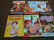 ANDREW CLEMENTS 6 children books reader level 8-12 FRINDLE, THE REPORT CARD