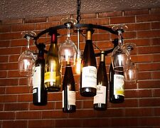 7 Wine glass 7 Wine Bottle Chandelier Chain Style  Light Lighting  Wine Decor