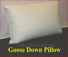 1 STANDARD PILLOW  95% GOOSE DOWN  HOTEL QUALITY 100% COTTON COVER SUMMER SALE
