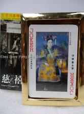 Chinese Old Pictures Photos Empress Dowager Playing Casino Poker Cards Deck #Xa