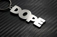 DOPE Cool Awesome Smoke Keyring Keychain Key Fob Bespoke Stainless Steel Gift