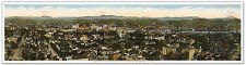 HUGE Downtown Portland Oregon Panoramic MAP - Mt St Helens Adams Hood circa 1913