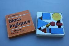 Ancien matériel scolaire Blocs Logiques Miniblocs Paris Dienes forme couleur