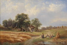 """Wonderful Oil painting The rest of the farmers In the harvest season canvas 36"""""""