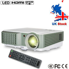 4000lumens Multimedia Home Cinema LED Projectors HD Video HDMI VGA USB UK stock