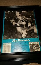 Jim Reeves A Touch Of Sadness Rare RCA Original Promo Poster Ad Framed!