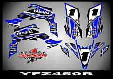 Yamaha YFZ450R YFZ450X 450X  SEMI CUSTOM GRAPHICS KIT 09-13 BLUE DUNKY BLU