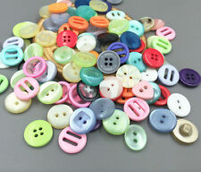 50PCS DIY Random Various Color Size Round Fit Sewing Scrapbooking Resin Buttons