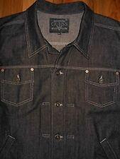 Guess Denim Jean Jacket 4XL Mens Black Trucker Coat 6D18