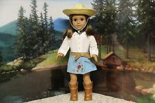 """American Girl Nicki """"Meet Outfit+Western Hat"""" -COMPLETE-RETIRED-RARE-EUC-NO DOLL"""