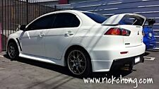 2008 TO 2015 MITSUBISHI LANCER EVOLUTION X REAR BUMPER SIDE SPATS COLOR PAINTED