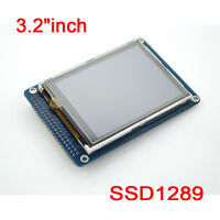 "3.2""inch TFT LCD Display Module + Touch Panel & SD Card Cage for Arduino uno r3"