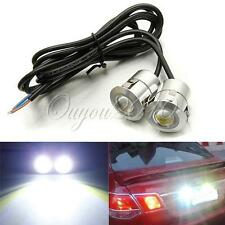 2X 9W LED DRL Eagle Eye Car Fog Daytime Reverse Backup Parking Signal Lamp Light