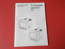Schneider Amstrad Monitor VC 14 VS 14 org. Service Anleitung Manual