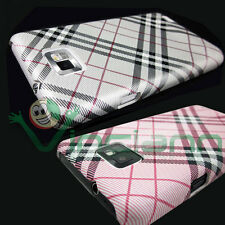 2x Custodia back cover rigida PLAID ROSA SILVER per Samsung Galaxy S2 i9100