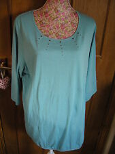 LADIES WOMENS SHORT SLEEVED BLUE T SHIRT COTTON TOP TRIANGLE S OLIVER 22 NEW
