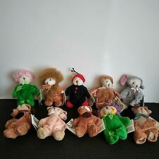 GANZ Wee Bear Village Collection Of 10, With Cute Costume With Tags