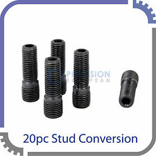 20pc Black Stud Conversion | 14x1.5 to 12x1.5 | for Audi VW Volkswagen Cars