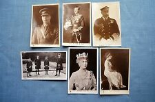 Lot of 6 Real Photo Post Cards of the British Royal Family, H.M. King George V.