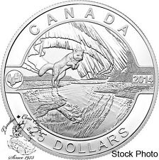 Canada 2014 $25 Arctic Fox and Northern Lights Silver Coin