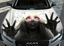 Blackwood Girl Car Bonnet Wrap Full Color Vinyl Sticker Decal Fit Any Car