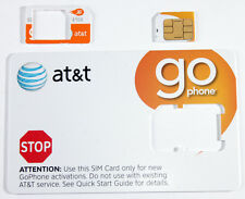 AT&T PREPAID GO PHONE 3G MICRO SIM CARD READY ACTIVATE, SKU 72287.