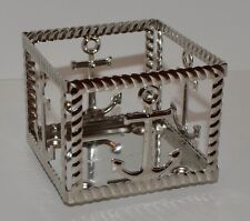 NEW BATH & BODY WORKS ANCHOR ROPE SQUARE METAL MINI CANDLE HOLDER SLEEVE 1.3 OZ