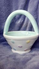 Ceramic easter basket decorated with easter eggs