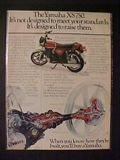 OLD JAPAN JAPANESE YAMAHA MOTORCYCLE MOTOR BIKE PRINT AD~ORIG VINTAGE 1977 RARE