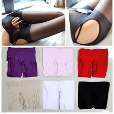 Sexy Frauen-geöffnete Gabelung Strümpfe Lace Hoch Tights Elastische Strumpfhosen
