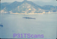 Lot of 4 Orig Slides Queen Elizabeth Ship Wreck Hong Kong Harbor Aerial 1972
