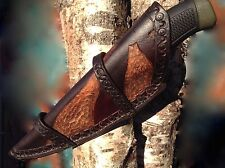 Bushcraft/Hunting Leather Knife Sheath - Hand made