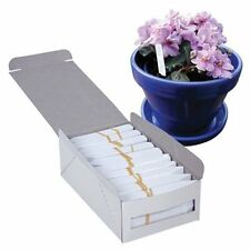"""Growers Edge White Plastic Plant Stakes - 1000 Pack - 4"""" x 5/8"""" 4in label stake"""