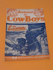 1950's PULP AVENTURES DE COW-BOYS #375 EDITIONS POLICE JOURNAL FREE SHIPPING