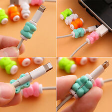 10Pcs Cute USB Charging Cable Earphone Cord Protector Saver Ramdom Color