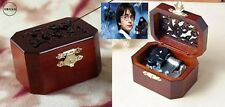 OCTAGON  WOOD CARVING MUSIC BOX  : HARRY POTTER HEDWIG'S THEME