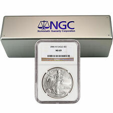 Complete Burnished Silver Eagle Set NGC MS69 (2006-2015)