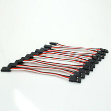 10x 10cm servo Extension Lead Wire Cable Female TO Female fly control Wire Cable