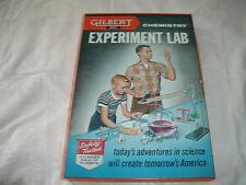 VINTAGE 1950'S GILBERT CHEMISTRY EXPERIMENT LAB No. 12015 W/METAL CASE & MANUAL