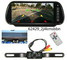 "7"" LCD Car Rear View Mirror Parking Monitor Night Vision Backup Reverse Camera"