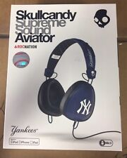 Skullcandy RocNation Aviator Headphones New York Yankees NIB