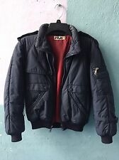 Vintage Fila Cotton Nylon Puffy Bomber Jacket Size Small Hip Hop Made In Italy
